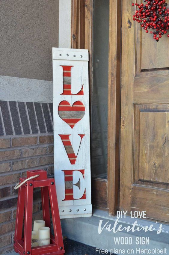 Nice diy love sign wood board.