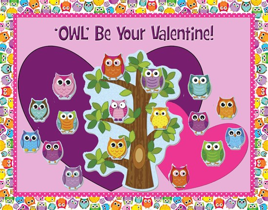 Owl Be Your Valentine Bulletin Board.