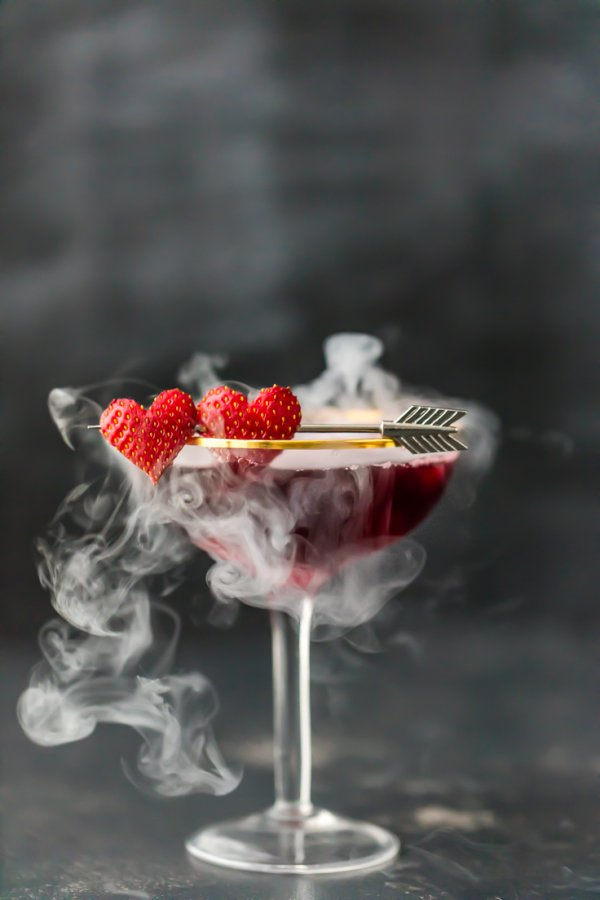 Perfect Valentines day cocktail.