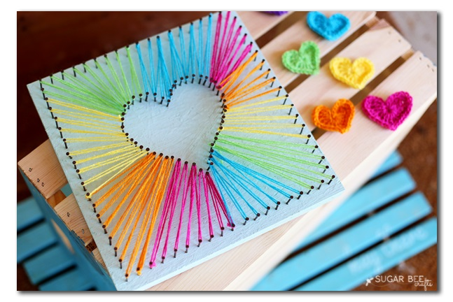 Perfect heart string art.