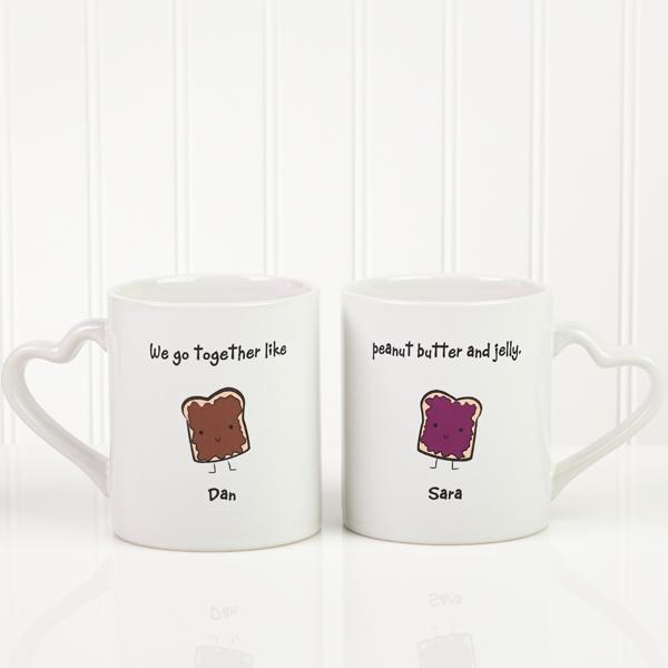 Personalized mug set.