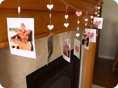 Polaroids garland for Valentine day.
