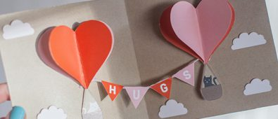 Pop up hugs card.