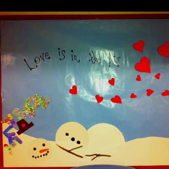 Pretty Love is in the air bulletin board.