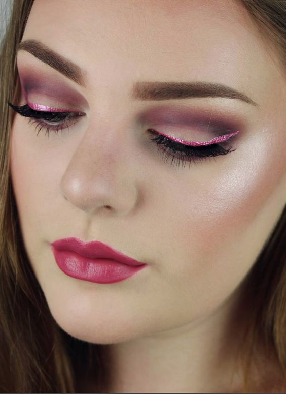 Quick makeup idea for valentine day lunch date.