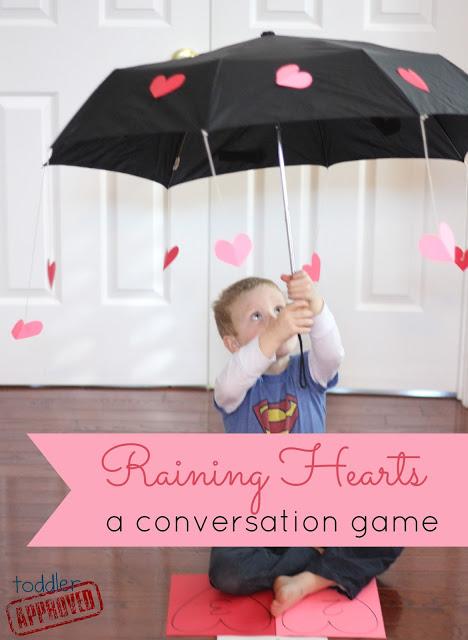 Raining heart Valentine's day game.