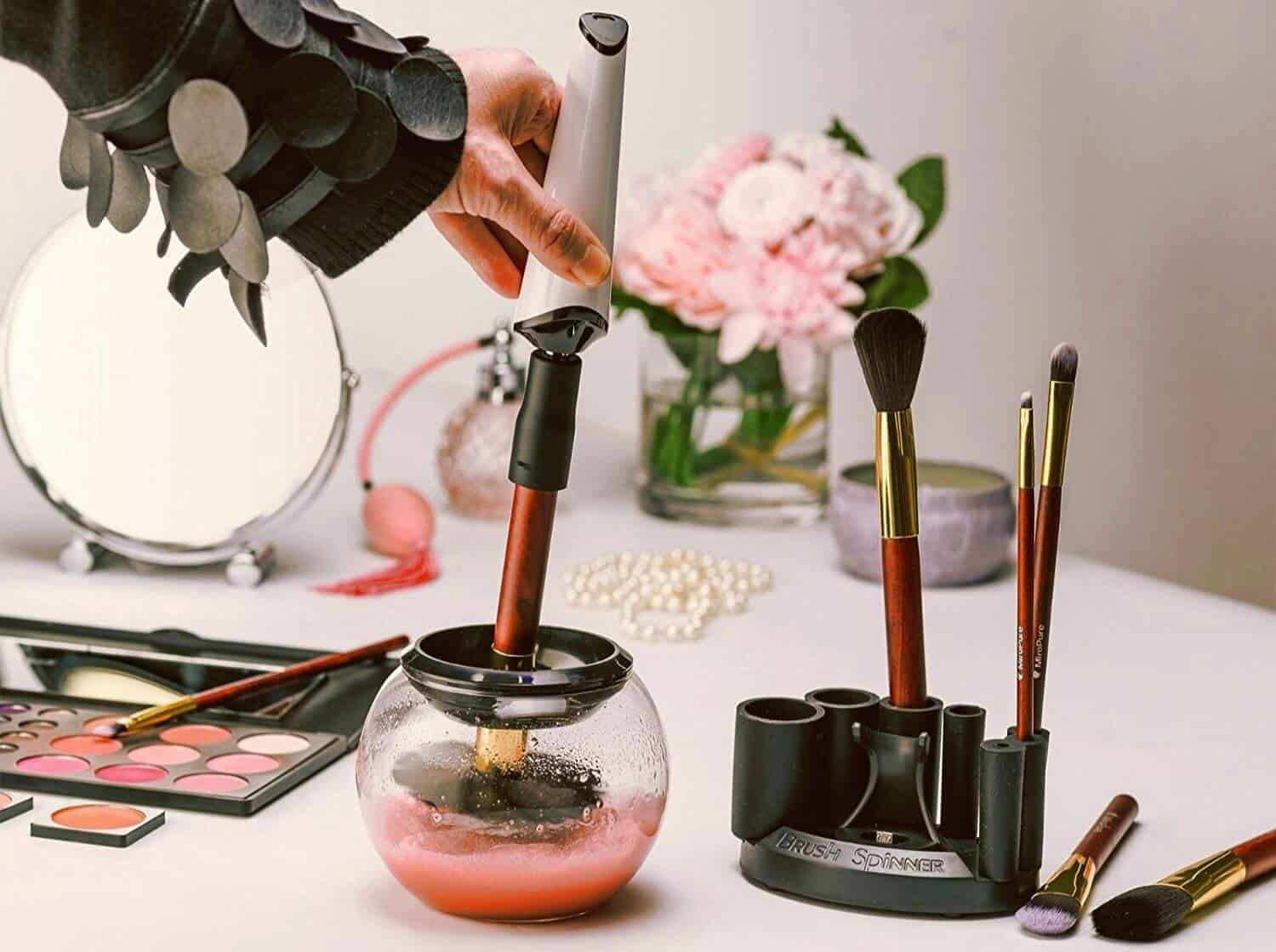 Rechargeable makeup brush cleaner.