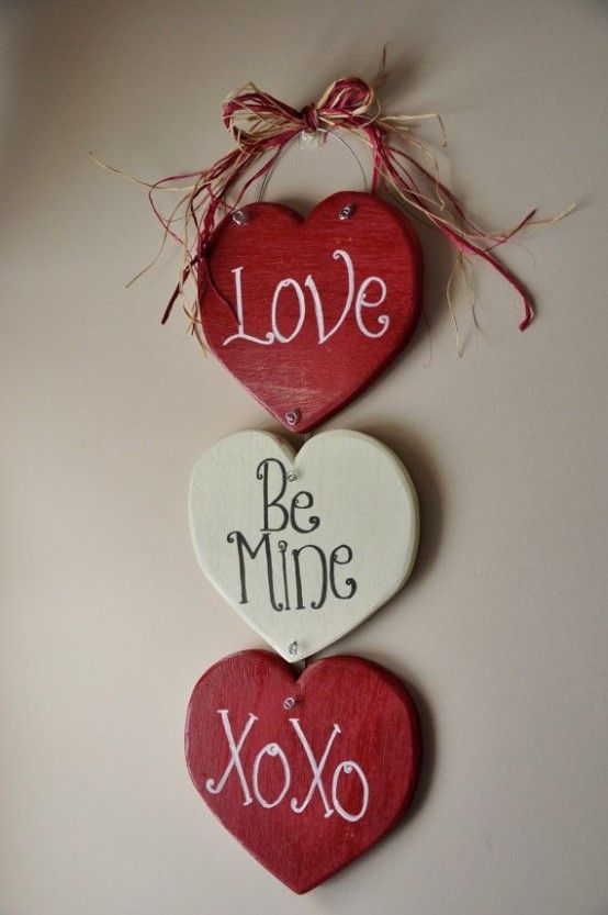 Red and white love sign board.
