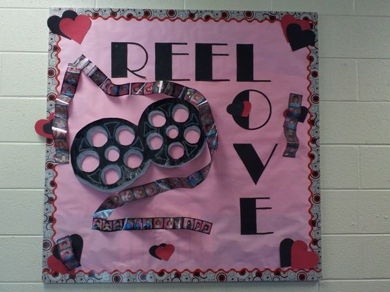 Reel love Valentine's day bulletin board decoration.