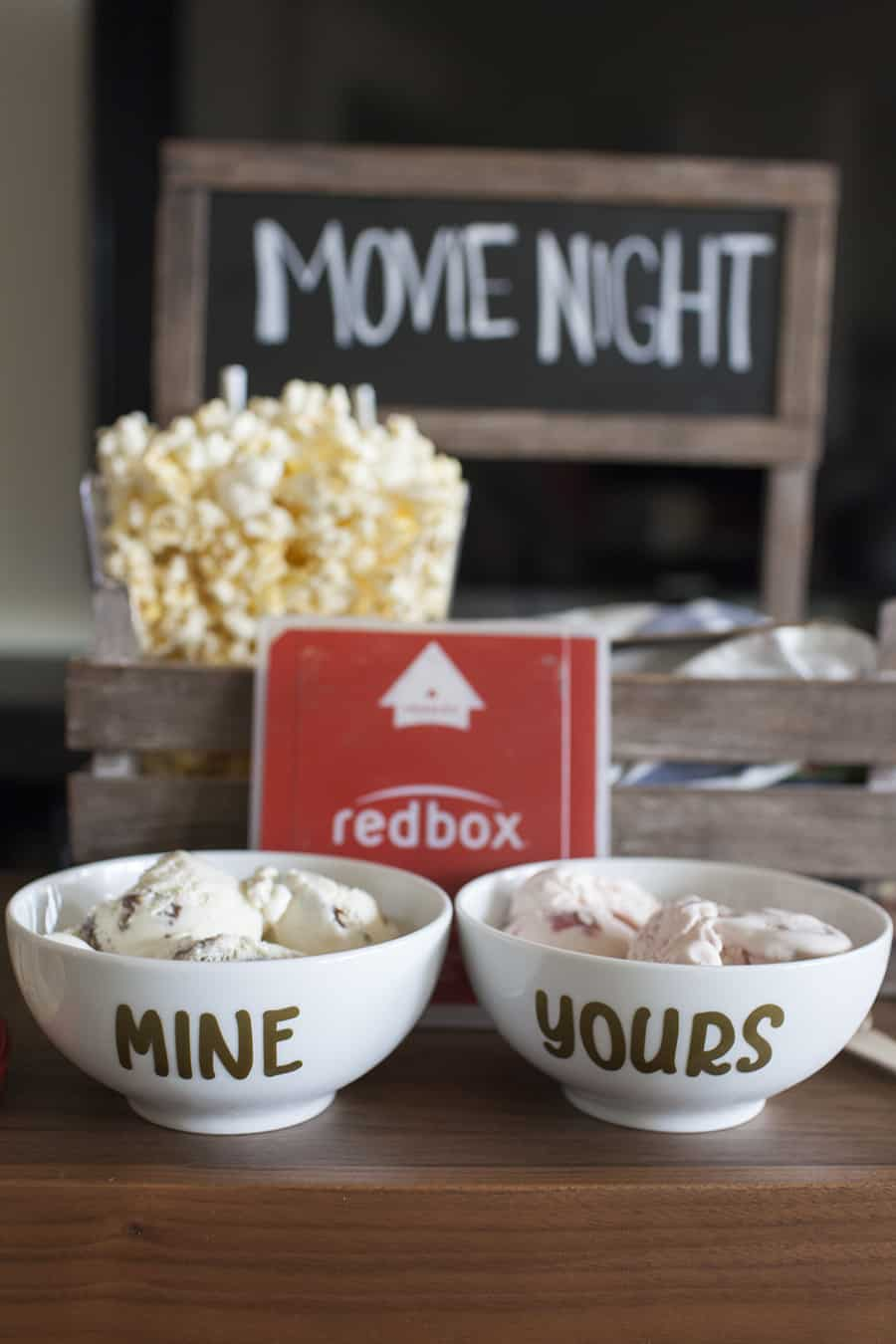 Romantic movie night date crate.
