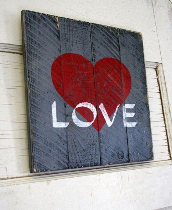 Romantic sign board.