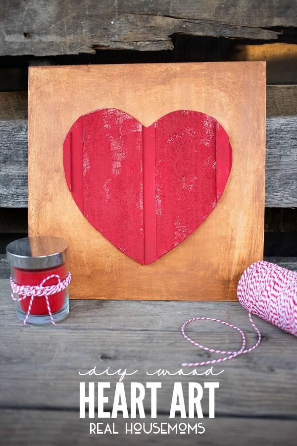 Rustic heart art.