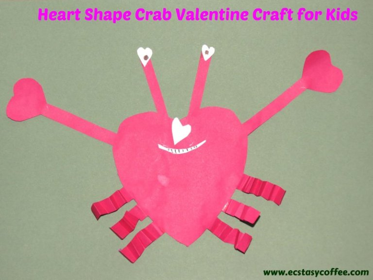 Sassy heart shape crab for kids.