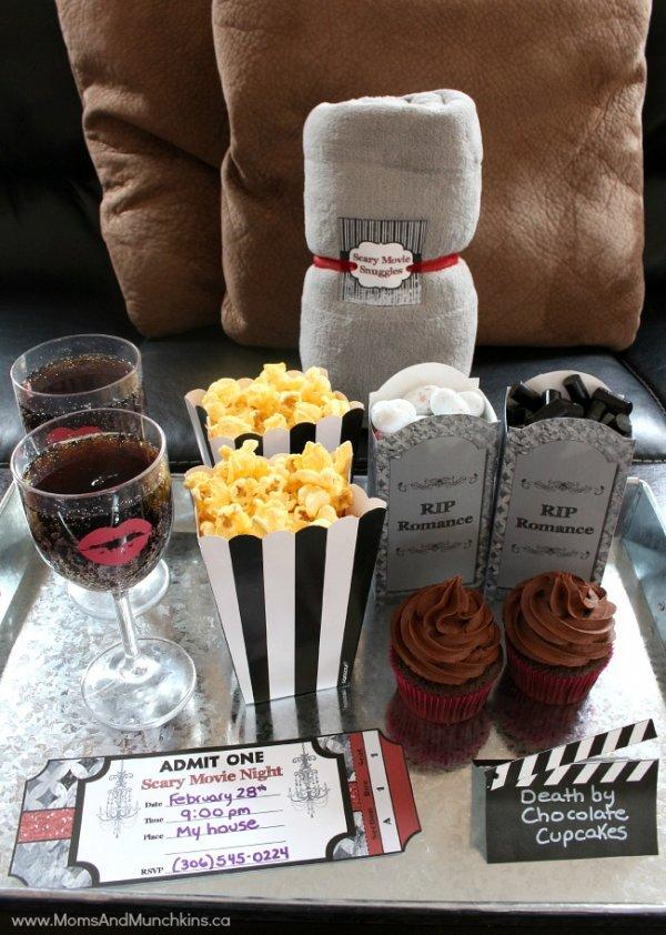Scary movie date night idea.