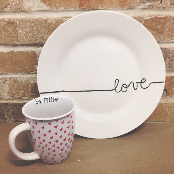 Sharpie cup plate for your love.