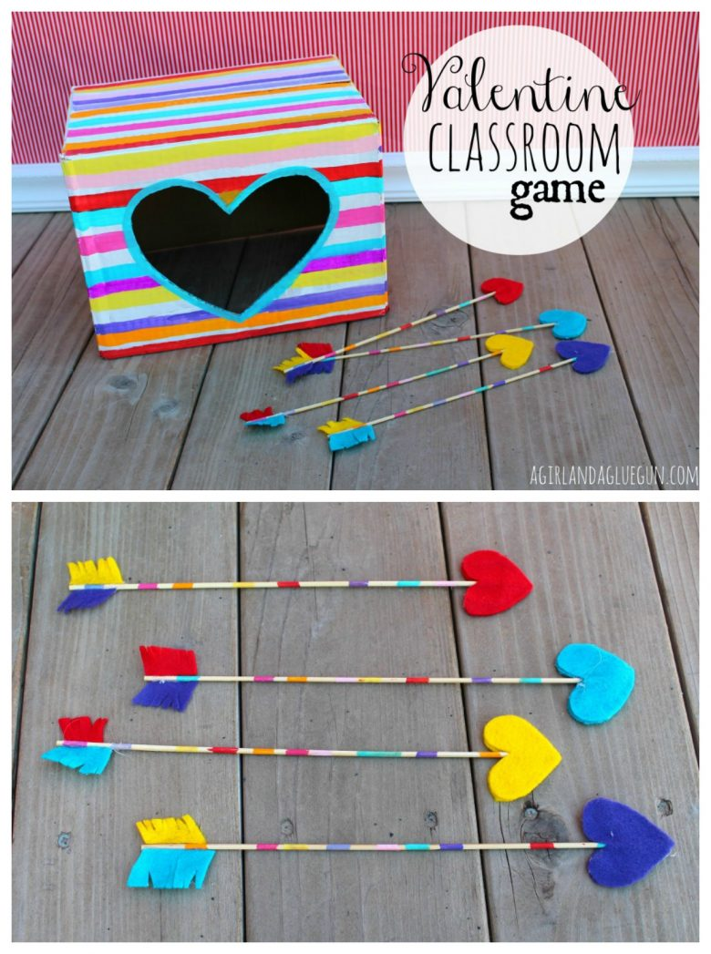 Shoot the arrow Valentines day classroom game.