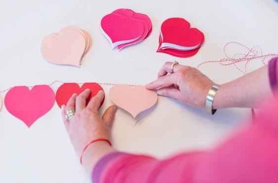 Simple heart garland.