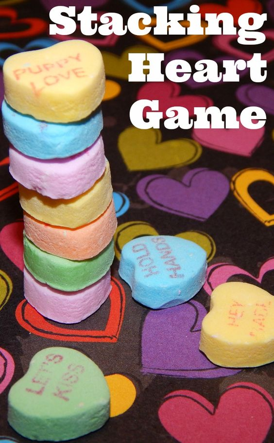 Simple stacking heart games.