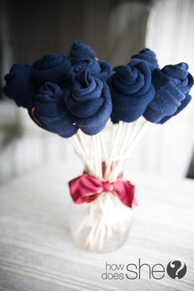 Socks bouquet for him.