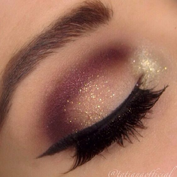 Sparkly eyes for romantic day.