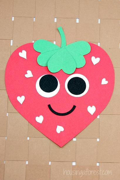 Strawberry heart craft.