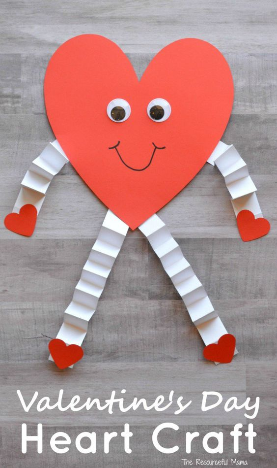 Stunning heart man paper craft idea.