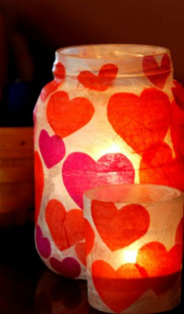 Stunning mason jar paper mache candle holder.