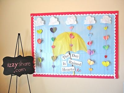 The Day it Rained Hearts Valentine's Bulletin Board.