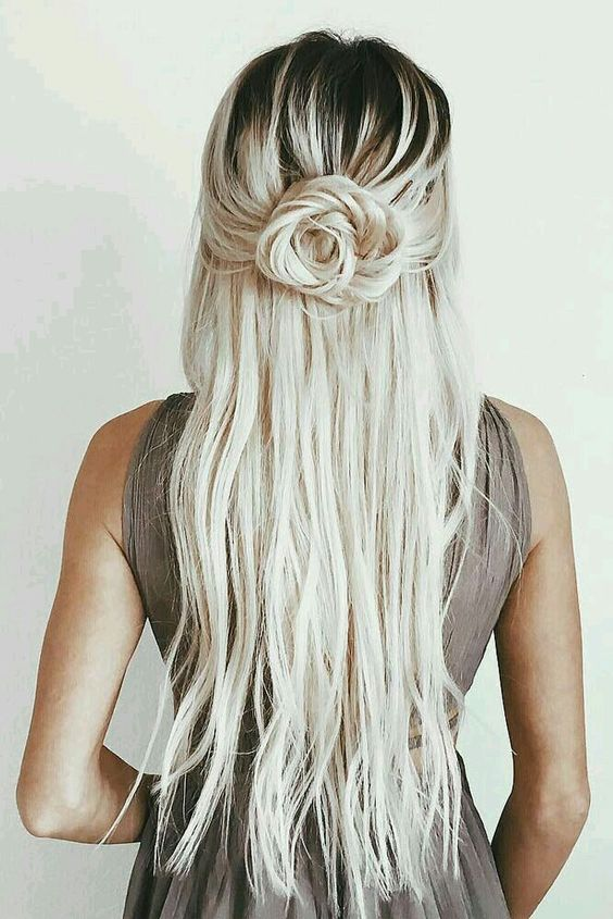 Twisted flower bun.