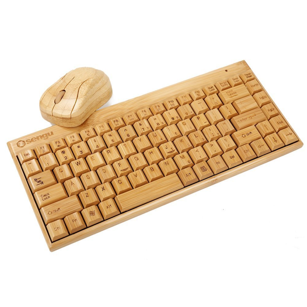 Ultimate bamboo wireless keyboard and mouse.