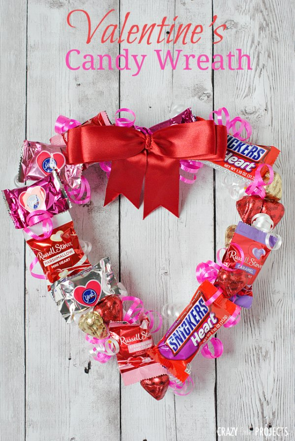 Unique Valentine's day candy wreath.