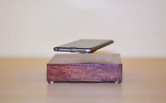 Unique wireless I Phone charger.