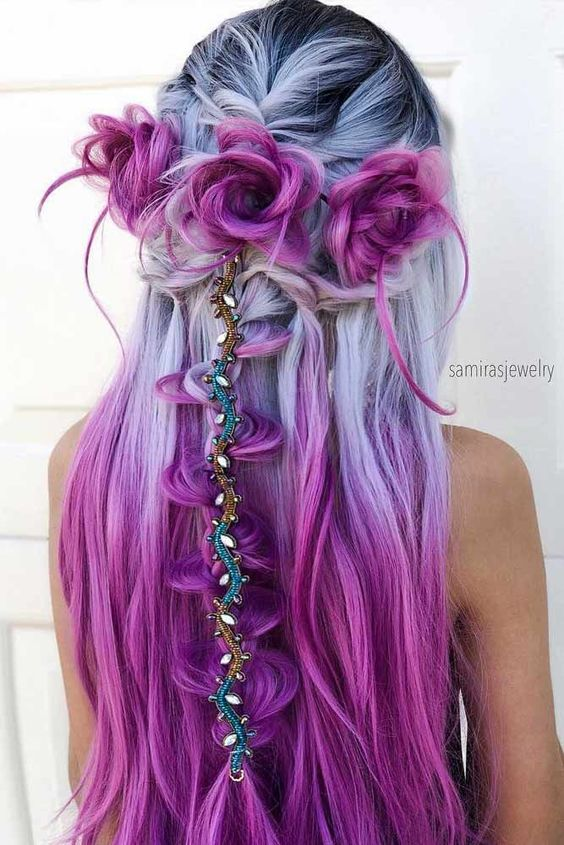Vibrant haircolor with superb hairstyle.