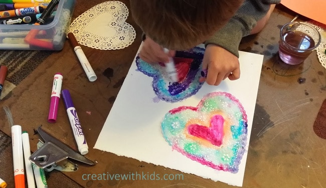 Water color heart craft.