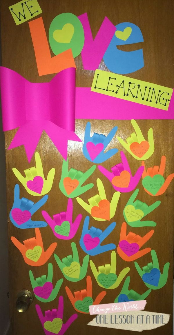 We love learning classroom door decor idea.
