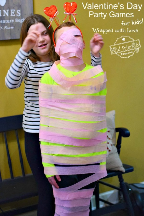 Wrapped with love party game.