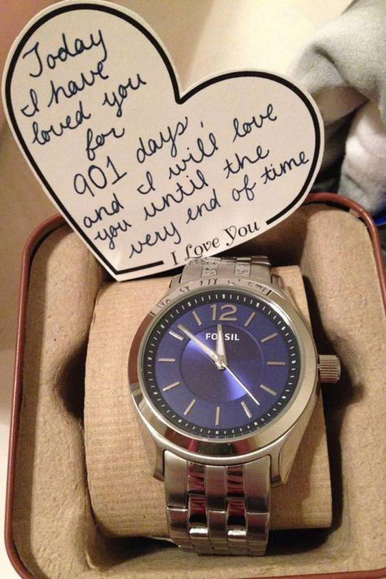 Wrist watch with beautiful message.