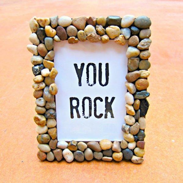 You rock handmade photo frame.