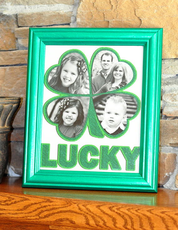 Adorable lucky shamrock photo diaplay.
