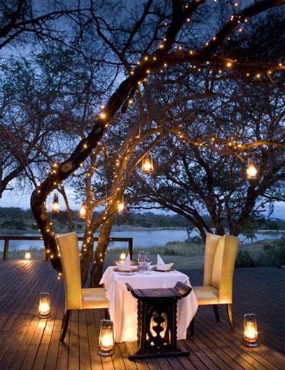 Arrange romantic candle light dinner.