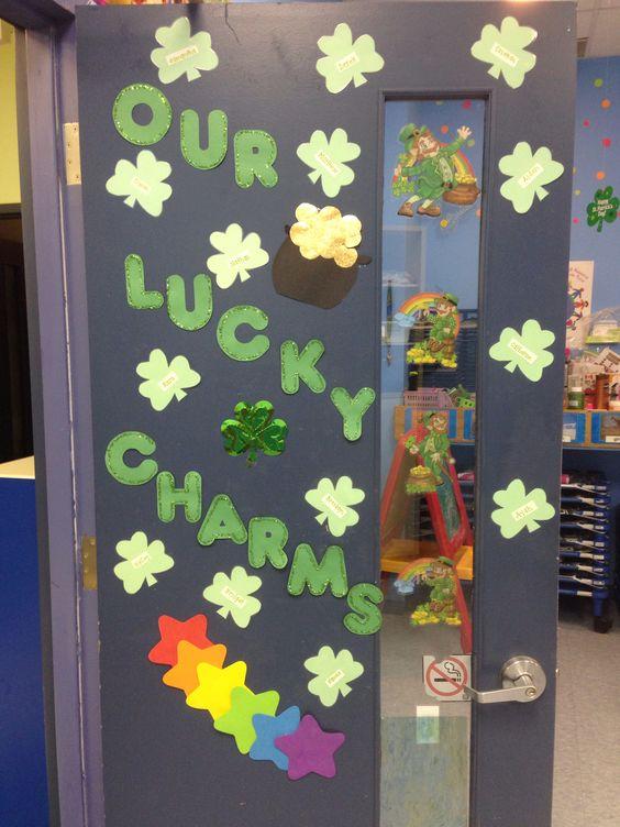 Beautiful St. Patricks day door decoration.