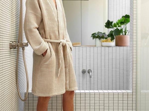 Comfortable cotton robe.