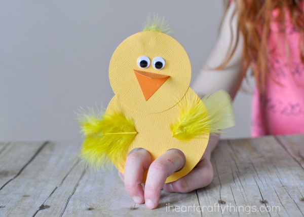 Cool chic finger puppet.