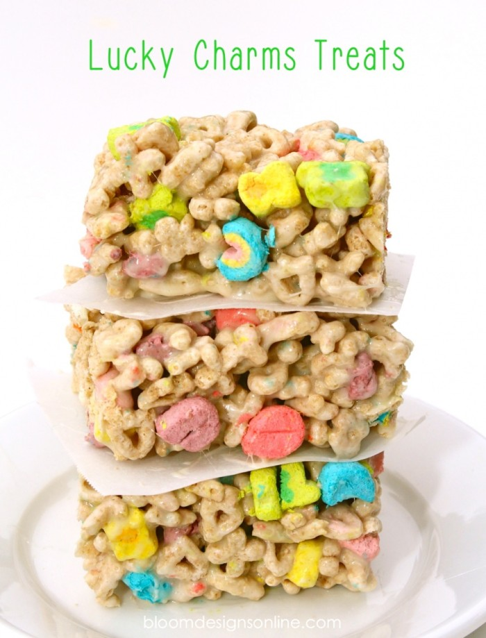 Crispy lucky charms treats.