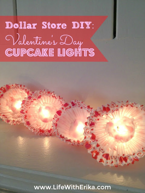 DIY Cupcake Lights for Valentine's Day.