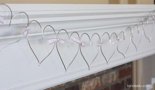 Dazzling wire heart garland.