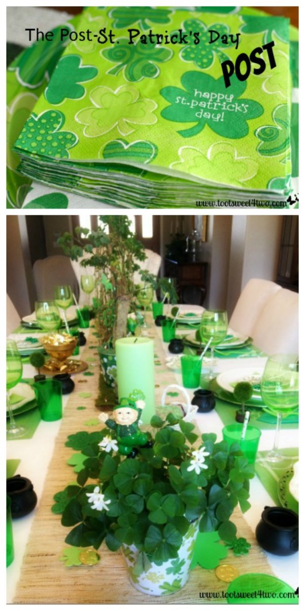 Different shades of green used for table setting.