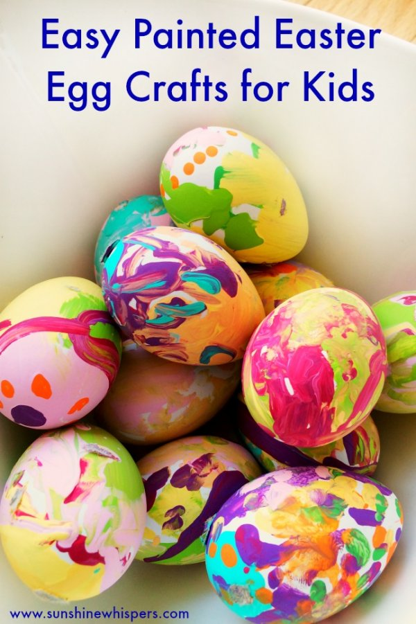 Easiest painted easter egg for kids.
