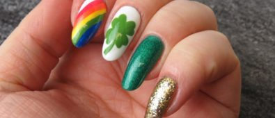 Easy St. Patricks day nails.