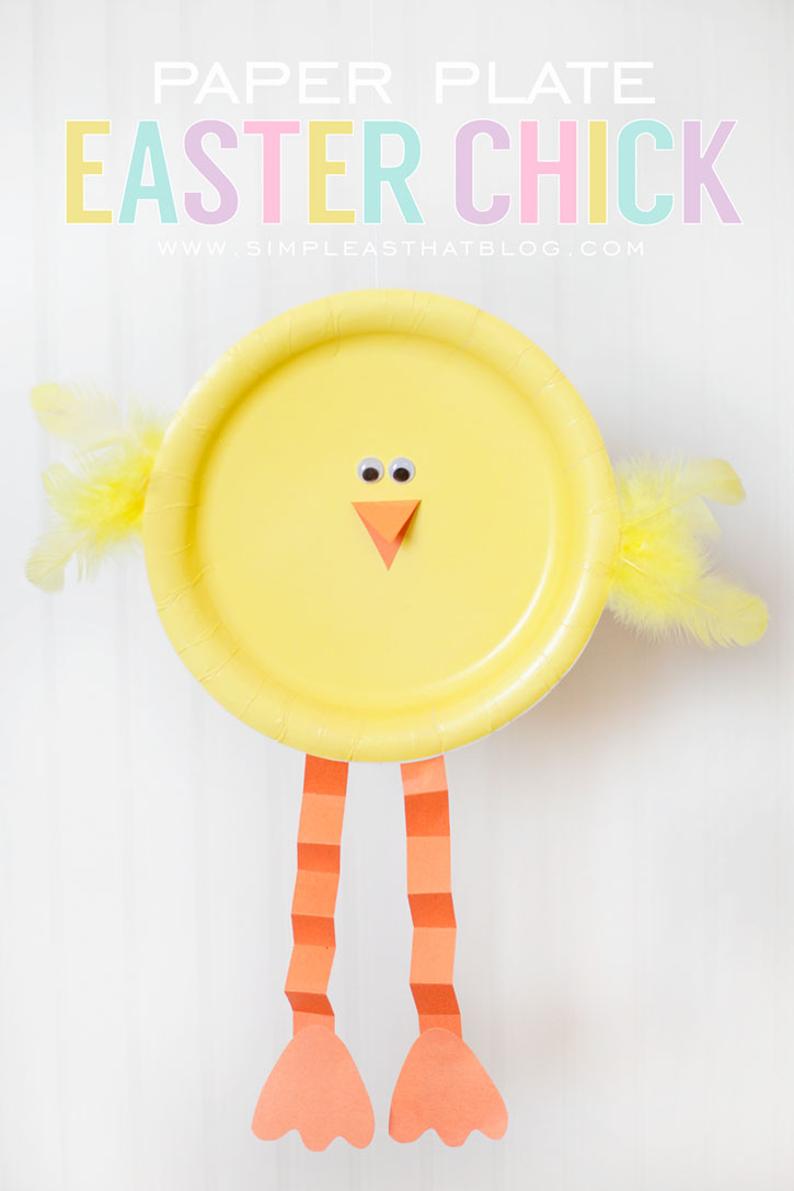 Fabulous paper plate easter chick.